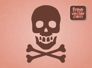Hazard Skull Symbol Free Vector