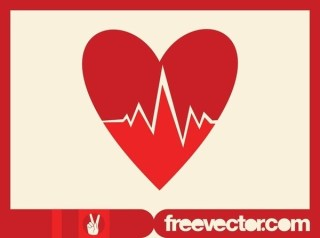 Heart Cardiology Icon Free Vector