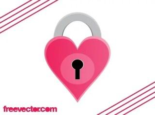 Heart Padlock Free Vector