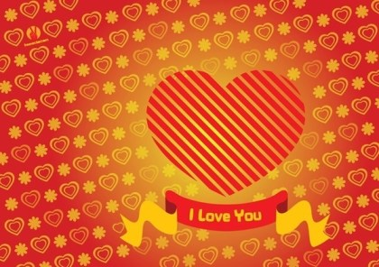 Heart Valentine Card Free Vector