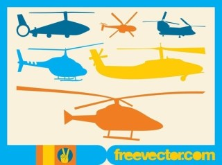 Helicopters Free Vector