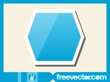 Hexagon Sticker Free Vector