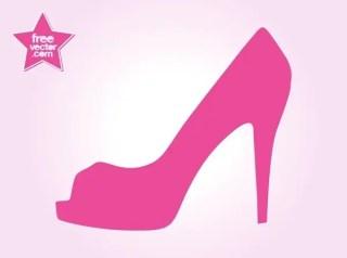 High Heel Shoe Free Vector