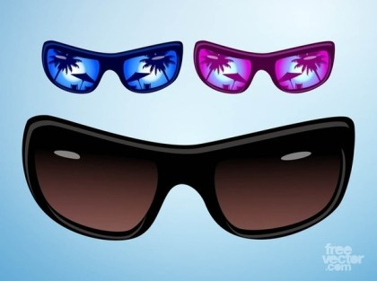 Holiday Sunglasses Free Vector