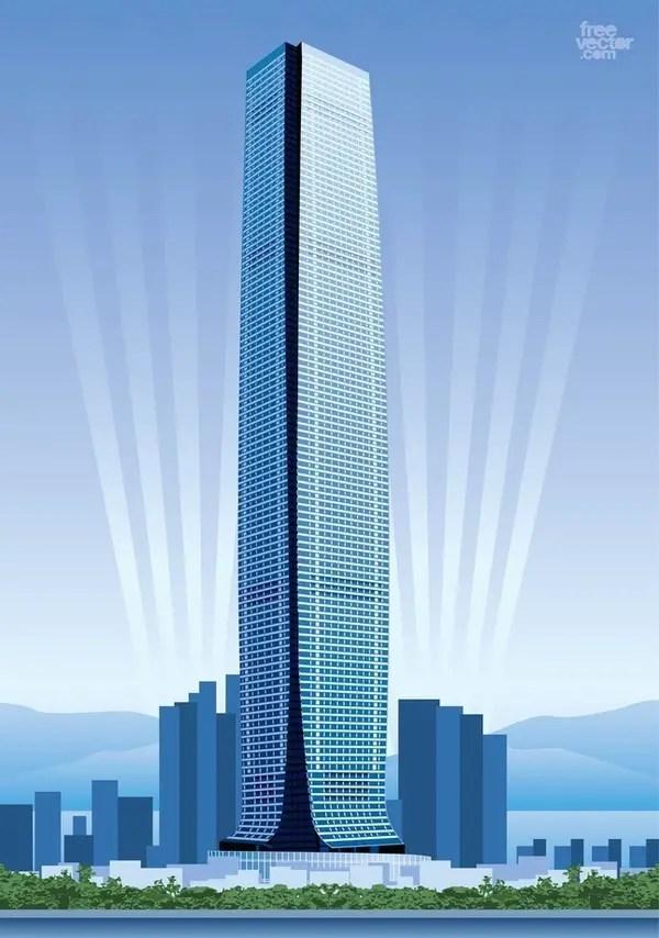 Hong Kong Skyscraper Free Vector