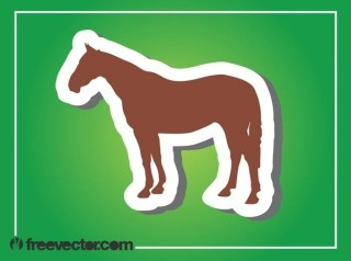 Horse Silhouette Free Vector