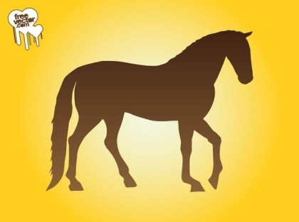 Horse Silhouette Image Free Vector