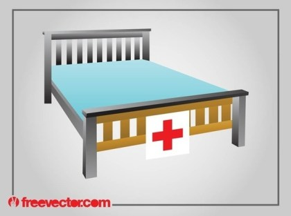 Hospital Bed Free Vector