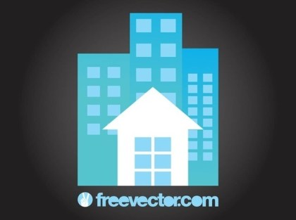 House and Apartment Blocks Free Vector