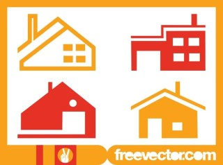 House Icons Set Free Vector