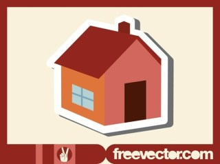 House Sticker Free Vector