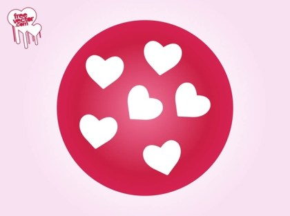 Icon With Hearts Free Vector