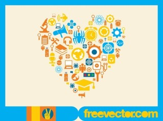Icons Heart Free Vector