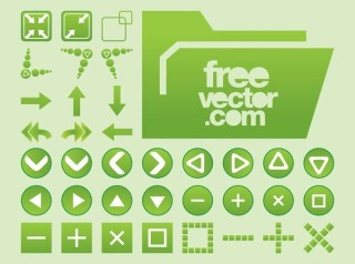 Interface Buttons Free Vector