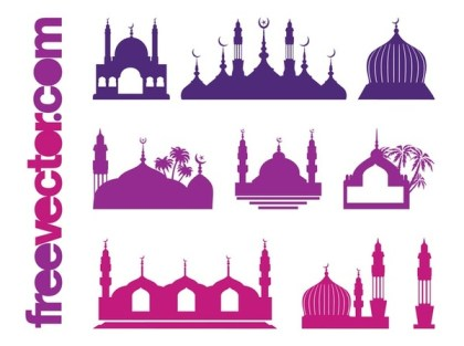 Islamic Buildings Free Vector