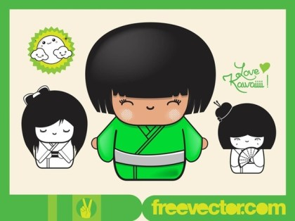 Japanese Girls s Free Vector