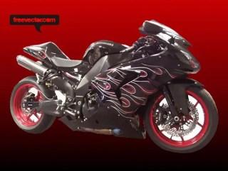 Kawasaki Motorcycle Free Vector