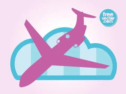 Landing Plane Free Vector