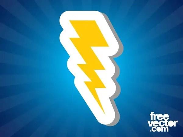 Lightning Bolt Icon Free Vector