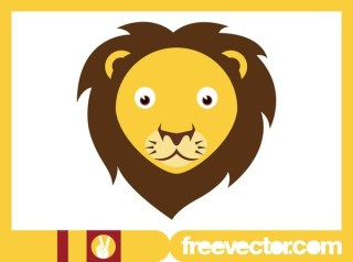 Lion Head Design Free Vector