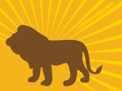 Lion Silhouette Image Free Vector