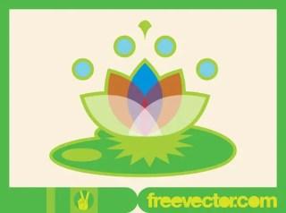 Lotus Icon Minimal Design Free Vector