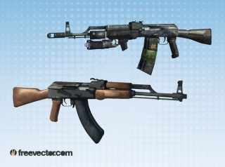 Machine Guns s Free Vector