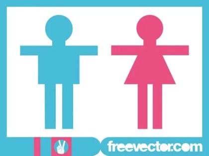 Man and Woman Symbols Free Vector