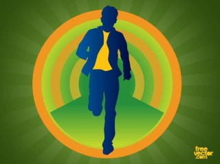 Man in Motion Free Vector