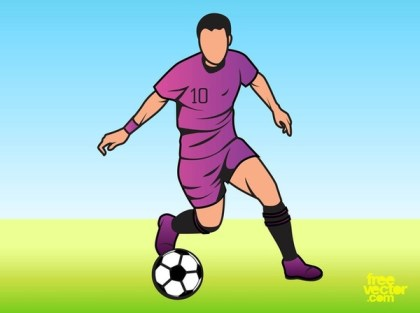 Man Playing Football Free Vector