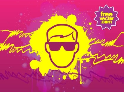 Man With Sunglasses Free Vector