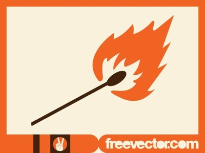 Matchstick Icon Free Vector