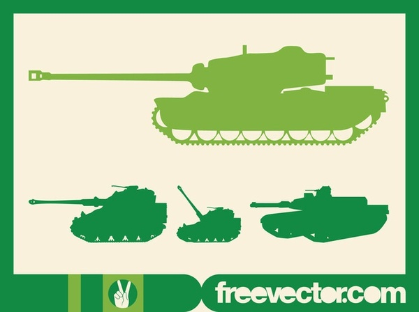 Military Tanks Free Vector