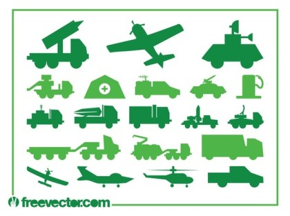 Military Vehicles Free Vector