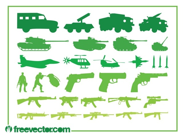 Military Vehicles Weapons Free Vector
