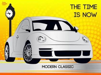 Modern Beetle Free Vector
