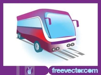Modern Bus Free Vector