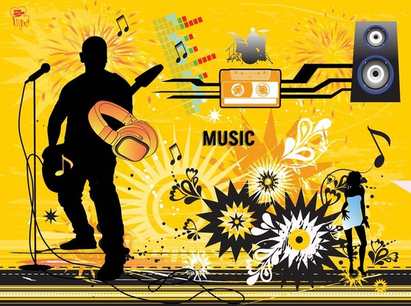 Modern Music Design Free Vector