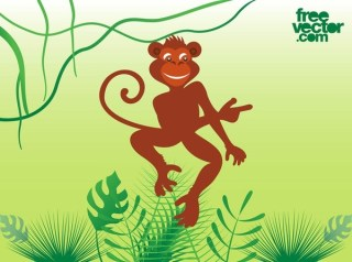Monkey Free Vector
