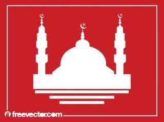 Mosque Silhouette Free Vector