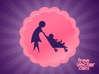Mother With Child Free Vector