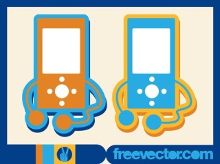 MP3 Player Icon Free Vector