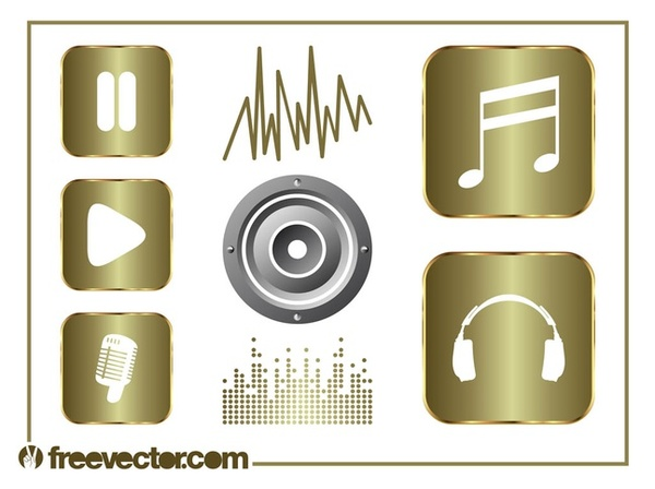 Music and Sound Set Free Vector