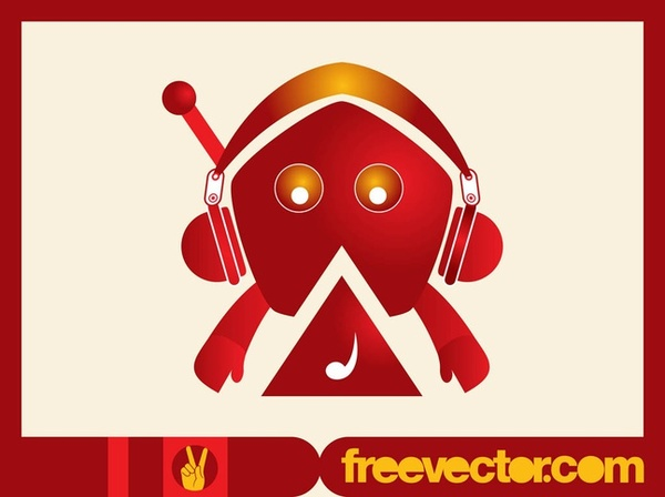Music Character Free Vector
