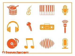 Music Icons s Free Vector