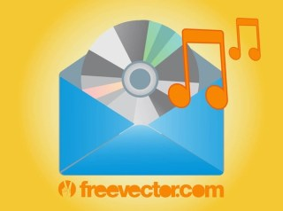 Music Mail Icon Free Vector