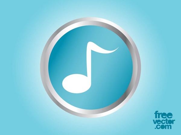 Music Note Icon Free Vector