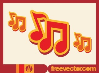 Music Notes Icon Free Vector