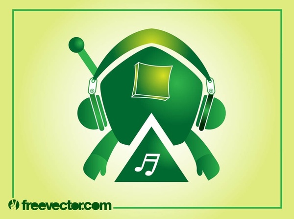 Music Robot Free Vector