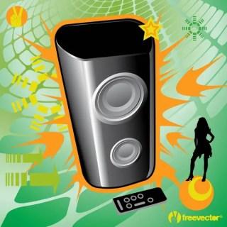 Music Speaker Free Vector